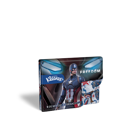 Kleenex® Captain America Tissue Box Designs