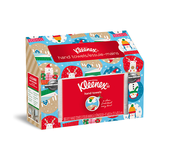 Kleenex® Christmas themed holiday hand towels.