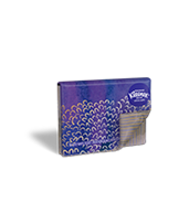 Kleenex® on-the-go* slim packs conveniently slip into your purse or pocket
