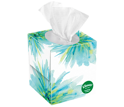 65 Count Kleenex Soothing Lotion Facial Tissue Floral Box