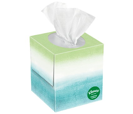65 Count Kleenex Soothing Lotion Facial Tissue Ombré Box