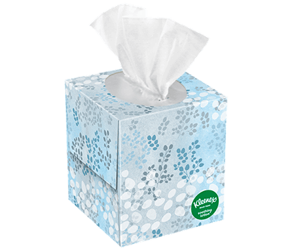 65 Count Kleenex Soothing Lotion Facial Tissue Jade Vine Box