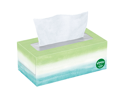 110 Count Flat Kleenex Soothing Lotion Facial Tissue Ombré Box