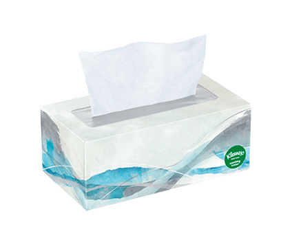 110 Count Flat Kleenex Soothing Lotion Facial Tissue Abstract Waves Box
