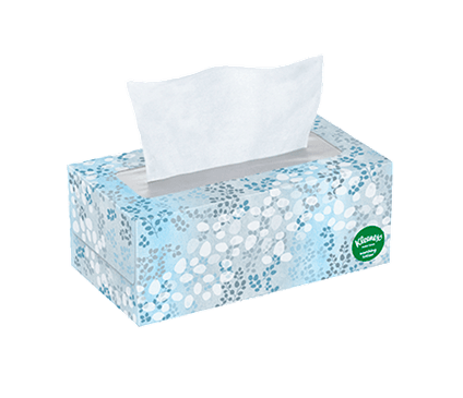 110 Count Flat Kleenex Soothing Lotion Facial Tissue Jade Vine Box