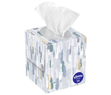 65 Count Kleenex Ultra Soft Facial Tissue Painted Box