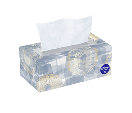 120 Count Flat Kleenex Ultra Soft Facial Tissue Modern Box