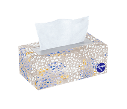 120 Count Flat Kleenex Ultra Soft Facial Tissue Speckled Box