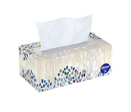 120 Count Flat Kleenex Ultra Soft Facial Tissue Spring Box