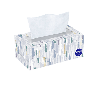 120 Count Flat Kleenex Ultra Soft Facial Tissue Painted Box