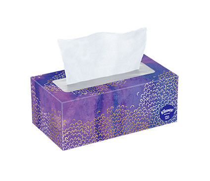 120 Count Flat Kleenex Ultra Soft Facial Tissue Floral Box