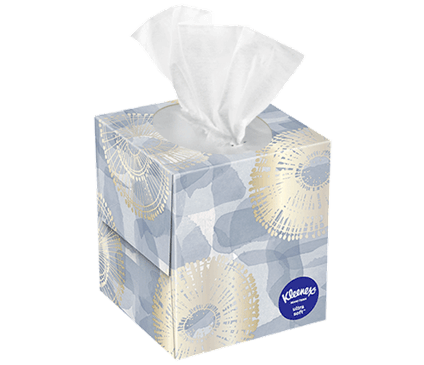45 Count Kleenex Ultra Soft Facial Tissue Modern Box
