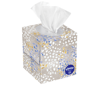 45 Count Kleenex Ultra Soft Facial Tissue Speckled Box