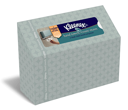 Use a fresh and clean towel every time with disposable Kleenex® Hand Towels.