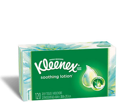 Kleenex® Soothing Lotion Tissues flat box 120 count halcyon 3