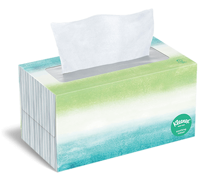 Kleenex® Soothing Lotion Tissues flat box 170 count hazel 1