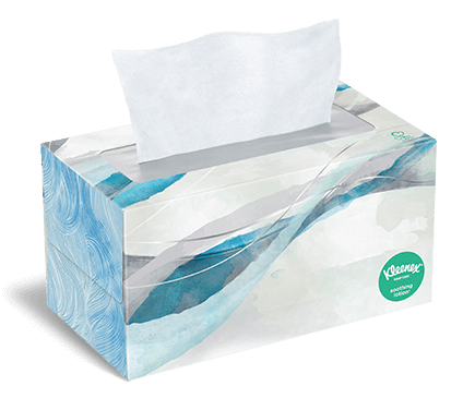 Kleenex® Soothing Lotion Tissues flat box 170 count indigo 1