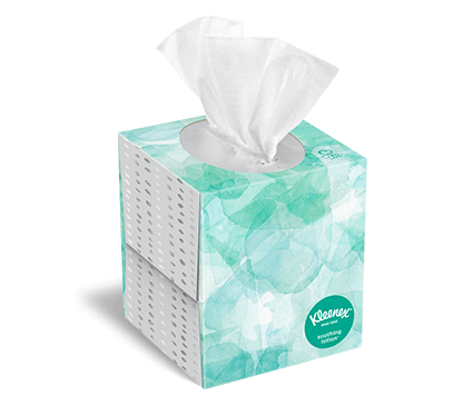 Kleenex tissues with lotion