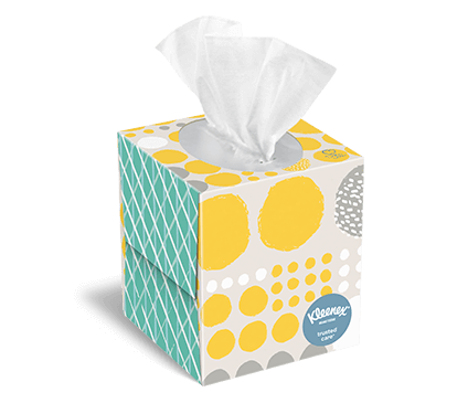 Kleenex® Trusted Care upright box 80 count verner 1
