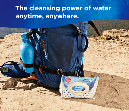 Kleenex Gentle Clean Wipes have the cleansing power of water.