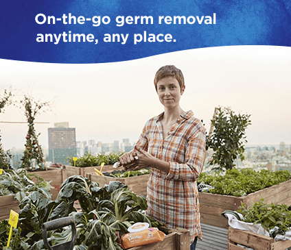 Kleenex germ removal wet wipes are good for cleaning dirty hands anytime and any place.
