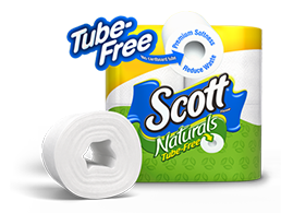 Save $1.00 on Scott Tube-Free Toilet Paper